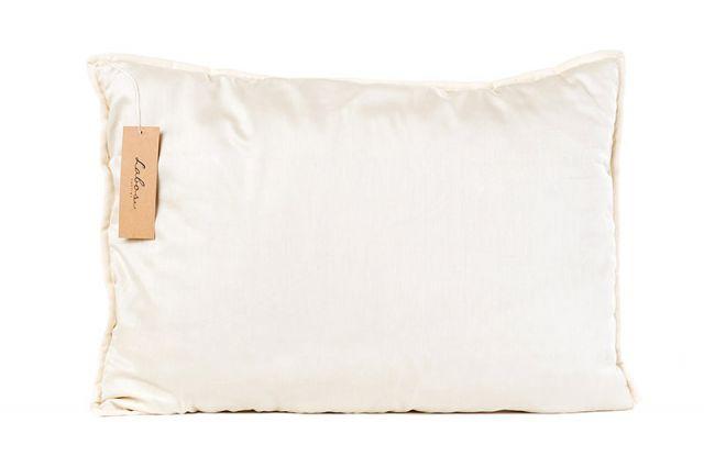 Rankų darbo vilnos užpildo pagalvė su viskoelastinio porolono šerdimi Satininės paklodės TavoSapnas