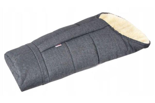 Vilnonis žieminis vokelis su prailginimu Grey jeans Satininės paklodės TavoSapnas