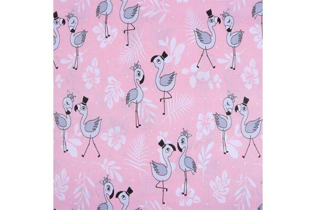 Patalynė lopšiukui Flamingai Satininės paklodės TavoSapnas