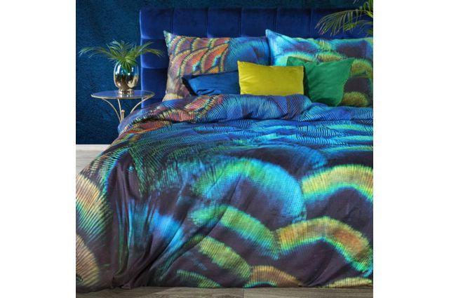 Eva Minge dizaino satino patalynės komplektas Magiškasis povas Satininės paklodės TavoSapnas