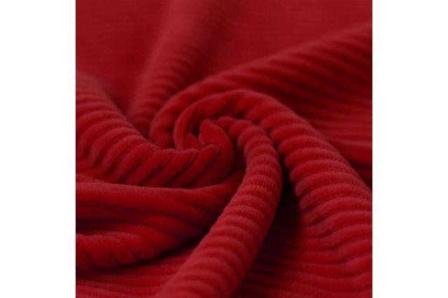 Veliūrinis trikotažas Raudonas, likutis 0.80x1.50m|Satininės paklodės|TavoSapnas