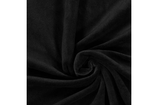 Veliūras Spring juodas, likutis 1x1.80m Satininės paklodės TavoSapnas