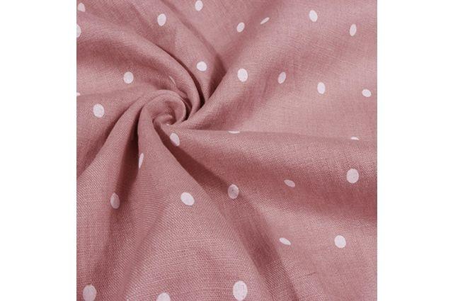 Minkštintas linas Rožiniai taškeliai|Satininės paklodės|TavoSapnas