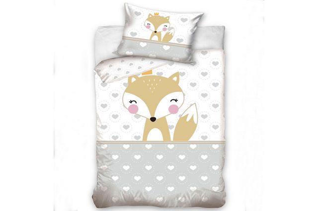 Premium patalynė Baby fox|Satininės paklodės|TavoSapnas