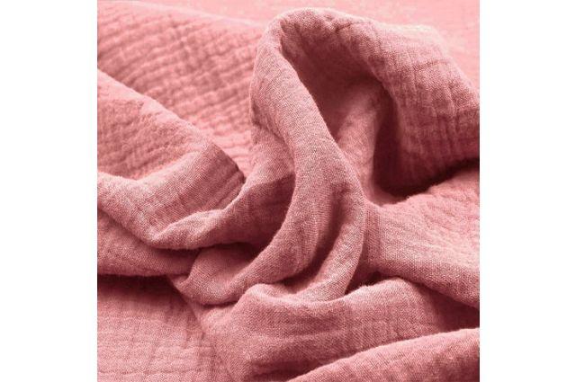 Double gauze muslinas pelenų rožinis Satininės paklodės TavoSapnas