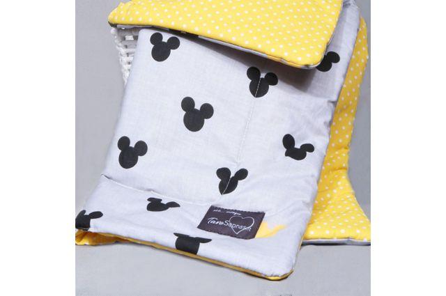 Komplektas vežimėliui Yellow Disney|Satininės paklodės|TavoSapnas