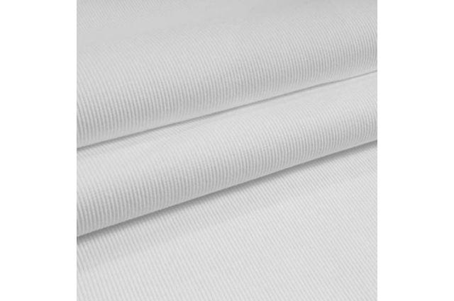 Rib trikotažas baltas, likutis 0.90x1.10m|Satininės paklodės|TavoSapnas