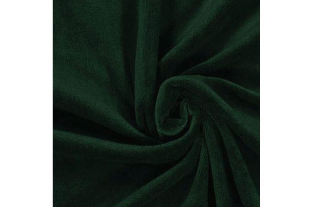 Medvilninis veliūras tamsiai žalias Satininės paklodės TavoSapnas