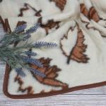 Merinosų vilnos pledas Lapeliai|Satininės paklodės|TavoSapnas