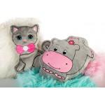 Dekoratyvinė pagalvėlė - žaislas Begemotukė|Satininės paklodės|TavoSapnas