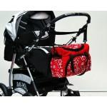 Rankinė kūdikio daiktams Grey Classic|Satininės paklodės|TavoSapnas