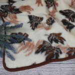 Merinosų vilnos pledas Leaf Satininės paklodės TavoSapnas