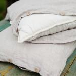 Lino patalynės komplektas Natural|Satininės paklodės|TavoSapnas