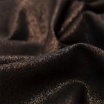 Blizgus puošnus audinys Barbie Black/Copper|Satininės paklodės|TavoSapnas