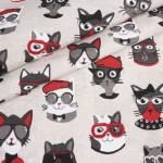 Dekoro audinys 280cm pločio Espana Cats|Satininės paklodės|TavoSapnas