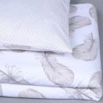 Patalynės komplektas Švelnioji plunksnelė|Satininės paklodės|TavoSapnas