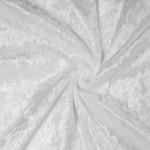 Plonas glamžytas aksomas White ,likutis 0.30x1.55m Satininės paklodės TavoSapnas