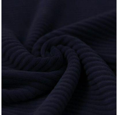 Veliūrinis trikotažas Tamsus mėlynas, likutis 0.85x1.50m|Audiniai|TavoSapnas