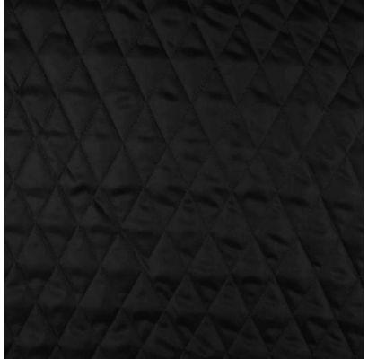 Pašiltintas striukinis pamušalas Juodas, likutis 0.50x1.40m|Audiniai|TavoSapnas