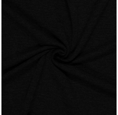 Trisiūlis kilpinis trikotažas juodas, likutis 1x1.80m|Audiniai|TavoSapnas