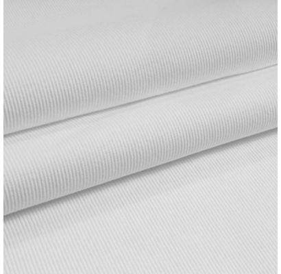 Rib trikotažas baltas, likutis 0.90x1.10m|Audiniai|TavoSapnas