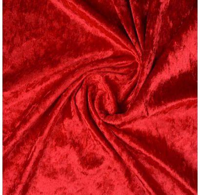 Plono glamžyto aksomo Raudono likutis 1.15x1.50m|Audiniai|TavoSapnas