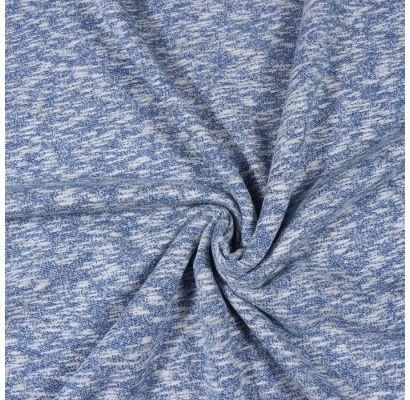 Trisiūlis kilpinis trikotažas mėlynas melanžas|Audiniai|TavoSapnas