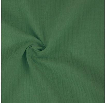 Double gauze muslinas tamsus sendintas žalias, likutis 0.65x1.35m|Audiniai|TavoSapnas