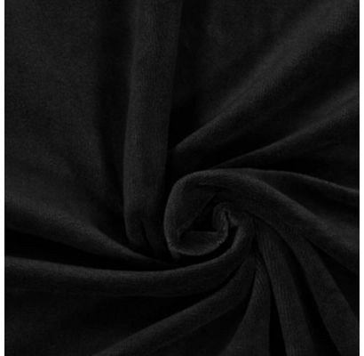 Medvilninis veliūras juodas, likutis 1x1.80m|Audiniai|TavoSapnas