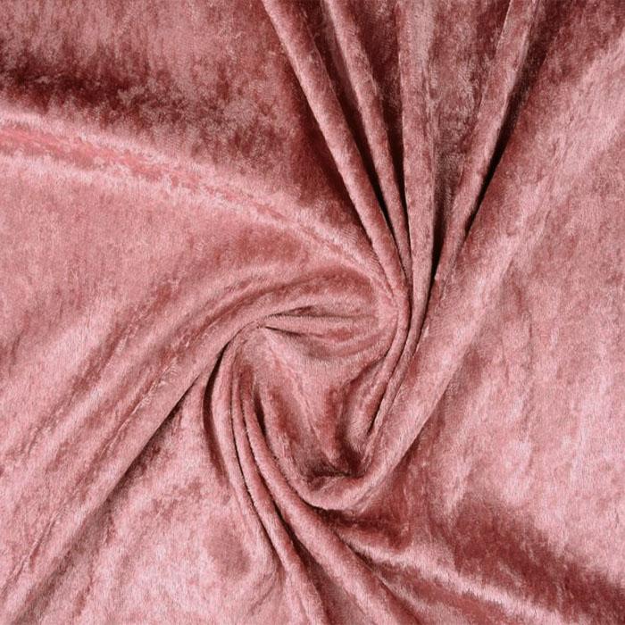 Plonas glamžytas aksomas Old Pink Satininės paklodės TavoSapnas