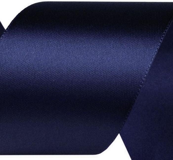 Juostelė atlasinė, tamsiau mėlyna 50mm Satininės paklodės TavoSapnas