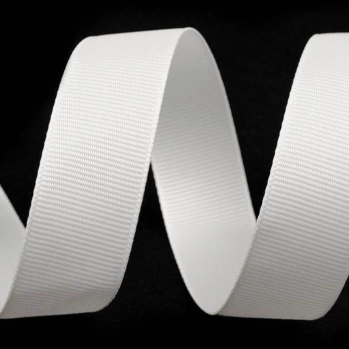 Juostelė ripsinė, balta 25mm Satininės paklodės TavoSapnas