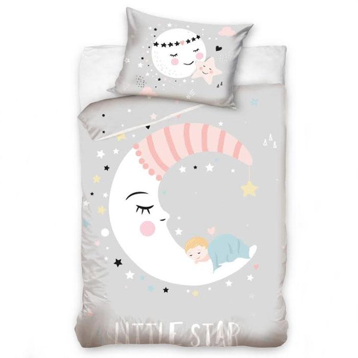 Premium patalynė Sleepy moon|Satininės paklodės|TavoSapnas