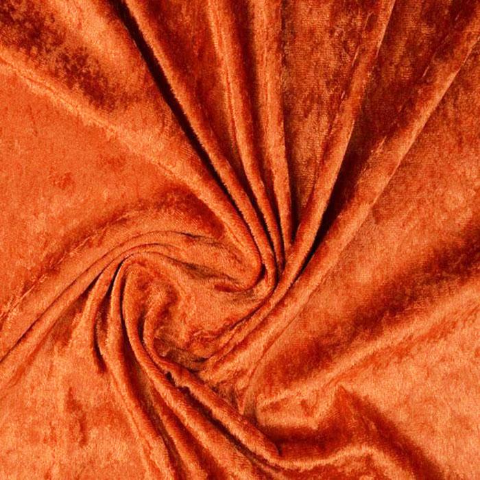 Plonas glamžytas aksomas Dark Orange|Satininės paklodės|TavoSapnas