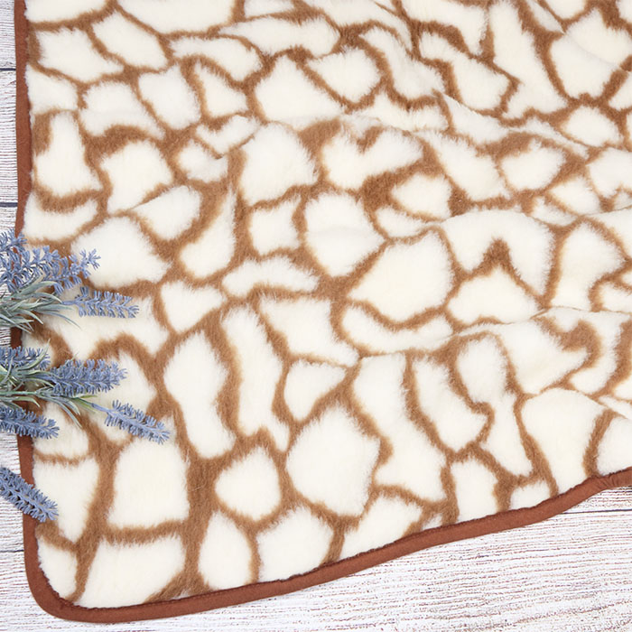 Merinosų vilnos pledas Žirafa|Satininės paklodės|TavoSapnas