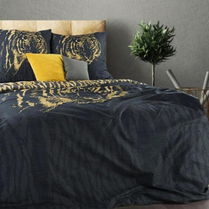 Premium patalynės komplektas Golden tiger|Satininės paklodės|TavoSapnas