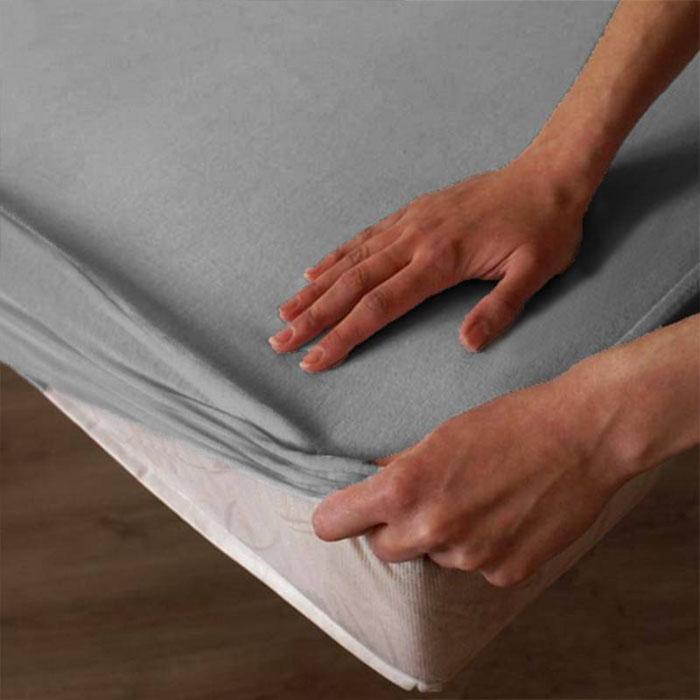 Neperšlampanti frotinė paklodė su guma Satininės paklodės TavoSapnas