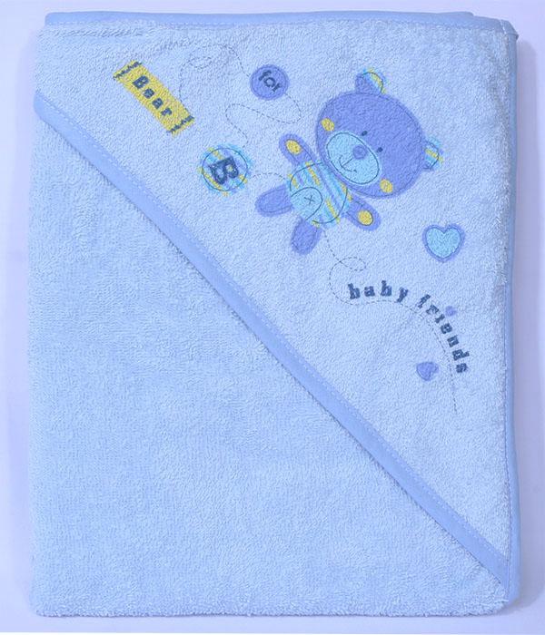 Rankšluostis su gobtuvu Blue teddy bear|Satininės paklodės|TavoSapnas