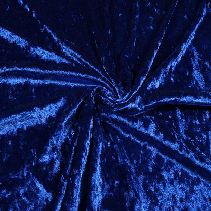 Glamžytas aksomas Lux mėlynas Satininės paklodės TavoSapnas