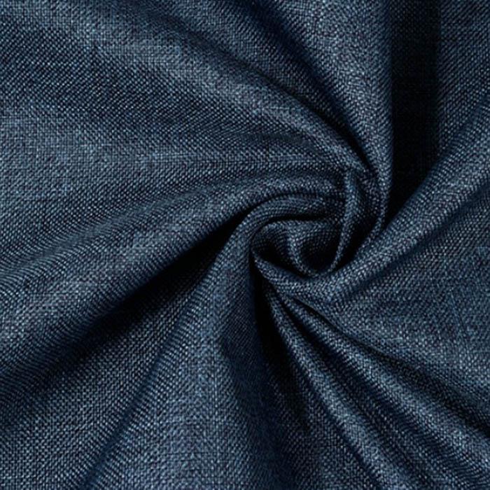 Vandeniui atsparus minkštas audinys Linen tamsiau mėlynas, likutis 1x1.60m Satininės paklodės TavoSapnas
